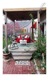 Pretty covered porch