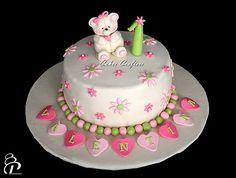 Girls Birthday Cake Cake Decorations Pinterest Birthday - 1st girl birthday cake