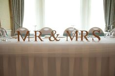 Mr & Mrs letters x