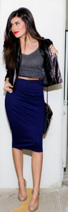 Simple High-Waisted Solid Color Bodycon Women's Skirt