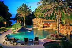 Joey Fatone of N'Sync's backyard. THIS IS MY DREAM!