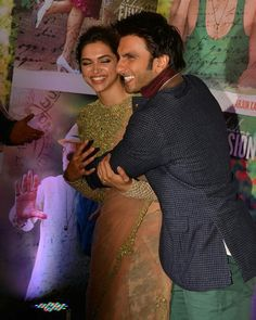 Deepika Padukone and Ranveer Singh at the success bash of Finding Fanny Deepika Ranveer, Deepika Padukone Style, Ranveer Singh, Bollywood Couples, Bollywood Wedding, Bollywood Stars, Finding Fanny, The Way He Looks, Indian Celebrities