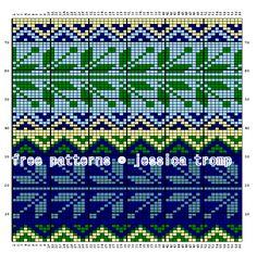 inbreipatronen telpatronen Intarsia  fair isle color charts