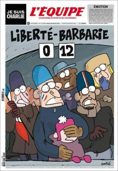 The powerful homage to Charlie Hebdo from the world of sports it ridiculed The World Newspaper, Newspaper Front Pages, Newspaper Cover, Satire, Caricatures, Tragic Comedy, Paris Terror Attack, Match En Direct, Charlie Hebdo