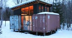 The Holyoke container cabin in northern Minnesota