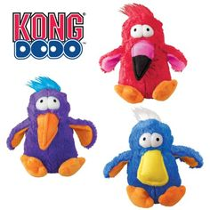 KONG DoDo Birds Dog Toy, Medium Check out these cute Dodo's. Brightly colored and full of fun, KONG Dodo Birds will make dog owners smile and tails wag. Dodo Birds are Read  more http://dogpoundspot.com/dog-toys/kong-dodo-birds-dog-toy-medium-2/  Visit http://dogpoundspot.com for more dog review products
