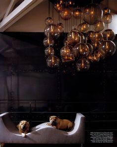 Elska dökka veggi. Jean-Pascal Levy-Trumet house in Paris