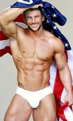 #hotguys #hotmen #hot #sexyabs #men #shirtless #patriot #AmericanFlag