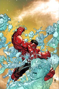 RED HULK vs ICEMAN by MarteGracia.deviantart.com on @deviantART