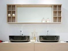 un miroir design rectangulaire et mural par Ceramica Flaminia