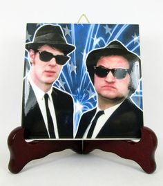 The Blues Brothers Ceramic Tile wall hanging decor art Cult Movie Belushi Akroyd