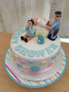 Exactly what i see happening in the delivery room funny baby shower cakes, Funny Baby Shower Cakes, Baby Shower Cake Sayings, Gateau Baby Shower, Funny Birthday Cakes, Cake Quotes, Different Cakes, Baby Shower Princess, Cake Videos, Cake Decorating Tips