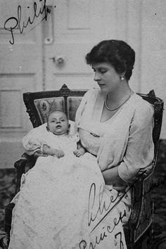 """teatimeatwinterpalace: """" """"' He is a splendid, healthy child, thank God. I am very well too. It was an uncomplicated delivery & I am now enjoying the fresh air on the terrace. ' Alice. """" Princess Andrew of Greece née Princess Alice of Battenberg with..."""
