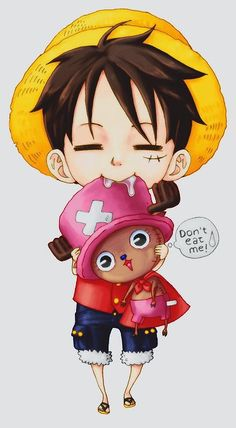 One piece luffy <3 cutee