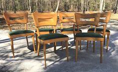 Set of 4 Heywood Wakefield Dog Bone 1554 Chairs MCM 1957 Original Eero Saarinen Danish Modern, Midcentury Modern, Eero Saarinen, Wakefield, Armchair, Dining Chairs, Mid Century, Dog, The Originals