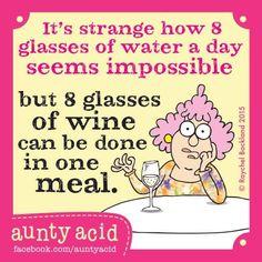 Wine vs water....