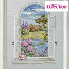 Garden of Tranquility Cross Stitch Kit: Stitch our chart of the month from Maria Diaz! The full kit is available on linen or aida.