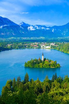 Lake Bled, Slovenia. Not only is it gorgeous but it has also seen The Stanley Cup and Anze Kopitar.