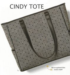 Love the Cindy Tote in the NEW Black Tweed Dot pattern....available in the 2015 Fall Catalog! Order at: www.mythirtyone.com/traceyattard