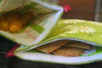 DIY Reusable Cloth Ziplocs #SewingDIY #Kids #FoodStorage