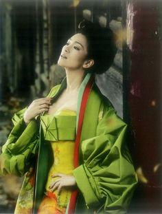 China..Famous actress Gong Li wearing Dior in Vogue