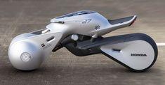 Futuristic Honda Revolver Concept Vehicle by Hongyup Song - Tuvie Futuristic Cars, Futuristic Design, Futuristic Vehicles, Motorcycle Design, Bike Design, Revolver, Casino Roulette, Design Autos, Honda