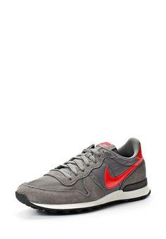 Кроссовки Nike / Найк мужские. Цвет: серый. Материал: искусственная кожа, спилок, текстиль. Сезон: Весна-лето 2014. С бесплатной доставкой и примеркой на Lamoda. http://j.mp/1n5iaIK