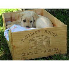 luxury wooden wine box dog bed