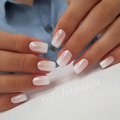 irridescent white nails