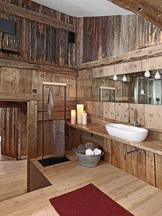 Aldeia - sua casa, simples assim - Quando a madeira conforta os banheiros