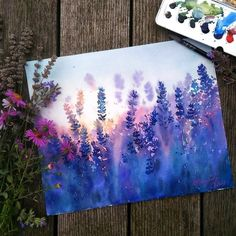 Ideas Anime Art Watercolor Paintings For 2019 Art Inspo, Painting Inspiration, Art Watercolor, Watercolor Flowers, Acrylic Flowers, Watercolor Landscape Paintings, Watercolor Portraits, Art Diy, Diy Artwork