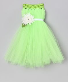 All the Little Things Lime Green Flower Dress - Infant, Toddler & Girls | zulily