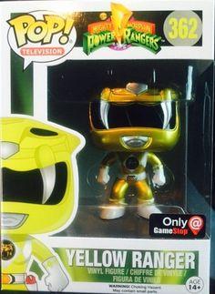 POP! Vinyl Power Ranger Metallic Yellow Ranger (Gamestop Exclusive)