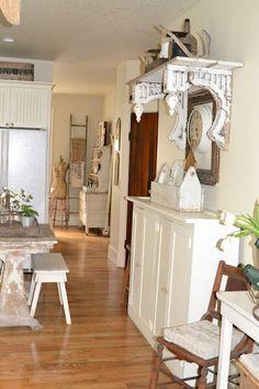 LOVE those old corbels #Shelves #kitchen