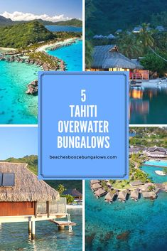5 Amazing Tahiti Overwater Bungalows — beaches, booze, and bungalows Places To Travel, Places To Go, Travel Destinations, Tahiti Resorts, Overwater Bungalows, France, Island Resort, Bali Travel, French Polynesia