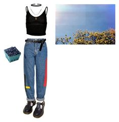 """So this is summer"" by spacecraff on Polyvore featuring Dr. Martens, Topshop, ASOS, Humble Chic and 1928"