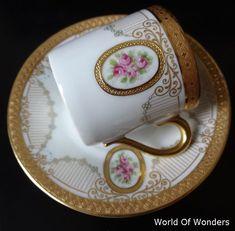 German-made Rosenthal Bavaria demitasse cup and saucer - I - Rudoobuwanda - not a Tea Cup Set, Cup And Saucer Set, Tea Cup Saucer, Tea Sets Vintage, Vintage Cups, Dresden, Cup Art, China Tea Sets, Porcelain Mugs