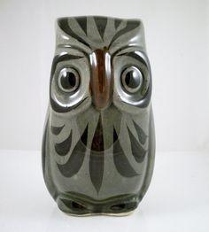 Vintage Mexico Owl Figurine