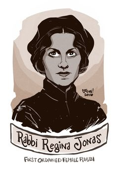 Regina Jonas was the first ordained female rabbi. She practiced her ministry in Nazi Germany, where she ministered to many older people who had already sent their families away. Eventually she was detained and sent to a concentration camp where she meet and consoled people. In 1944 she was transferred to Auschwitz where she was murdered. She was pretty much forgotten to history until 1991 where the opening up of East Germany allowed a small cache of her papers to be discovered.