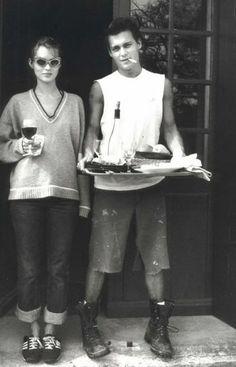 Johnny Depp et Kate Moss Photographed by Francois Marie Banier 1994