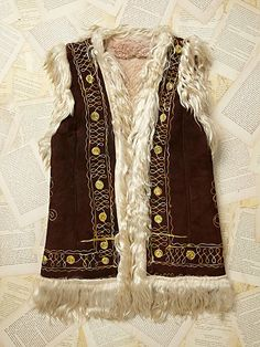 Free People Vintage Mongolian Vest