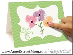 Cute printable Mother's Day card for kids to make!  Easy!
