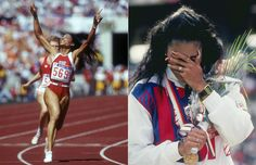 Flo Jo 84, best sprinter ever! her record still stands in the 100 and 200
