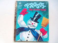 Vintage Frosty The Snowman Golden Book 1972 by WylieOwlVintage, $4.00