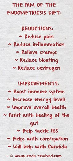 Benefits of the endometriosis diet