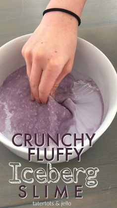 Iceberg Crunchy Fluffy Slime Here's a new recipe from Ella – Iceberg Slime. This slime is also borax-free and it combines our favorite Fluffy Slime and make a crunchy top which is fun to [. Iceberg Slime Recipe, Puffy Slime Recipe, Crunchy Slime Recipe, Slime Recipe Borax, Butter Slime Recipe, Free Slime, Diy Slime, Making Fluffy Slime, Sand Slime
