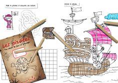 Cahier coloriage sur le thème des PIRATES