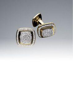 Bespoke Handmade Micropave Diamond Cufflinks