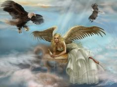 wallpaper with female Angels | Download Fantasy wallpaper, 'Angel fantasy art' .