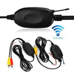 CAR CHET 2.4GHZ Vehicle Camera RCA Wireless Transmitter Receiver for Rear Reversing Camera Monitor DC12V Rear View Camera